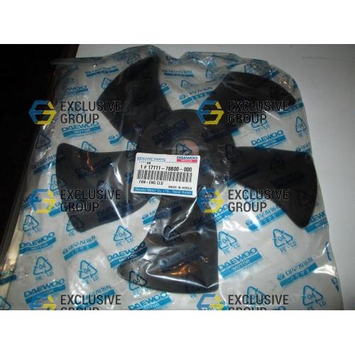 Крыльчатка вентилятора радиатора (черная)