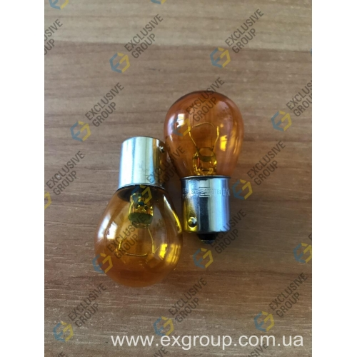 Лампа автомобильная поворотов 12V 21W оранж.(1 контакт)