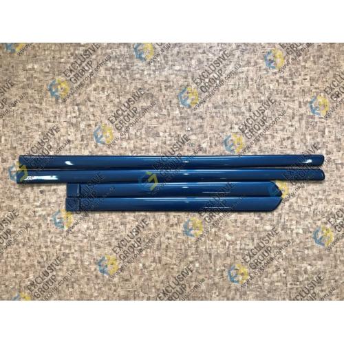Молдинги дверей комплект (темно-синий)