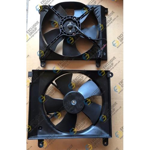 Вентилятор радиатора основной в сборе с кожухом б/к